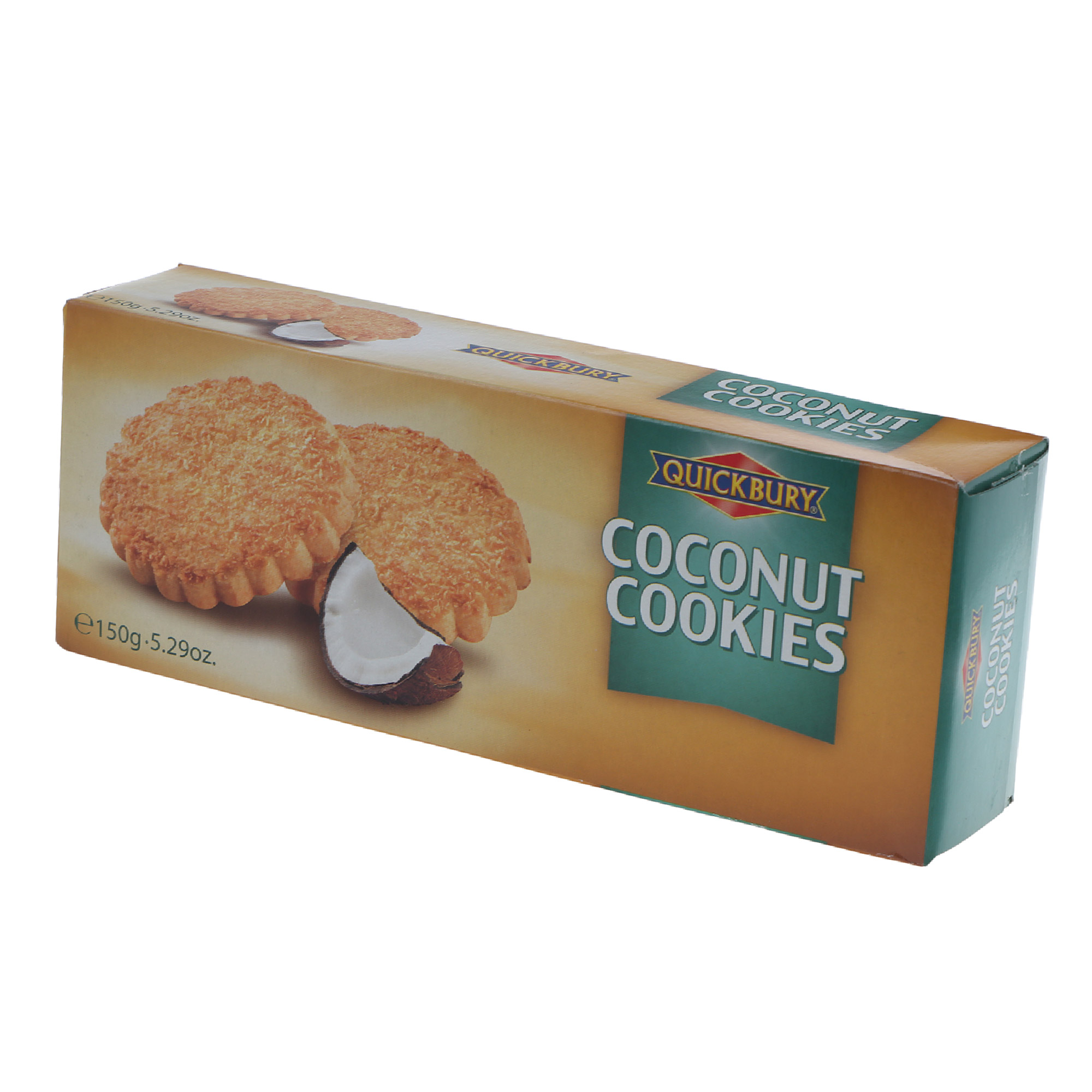 Фото - Печенье Quickbury кокосовое 150 г печенье quickbury с шоколадной крошкой 150 г