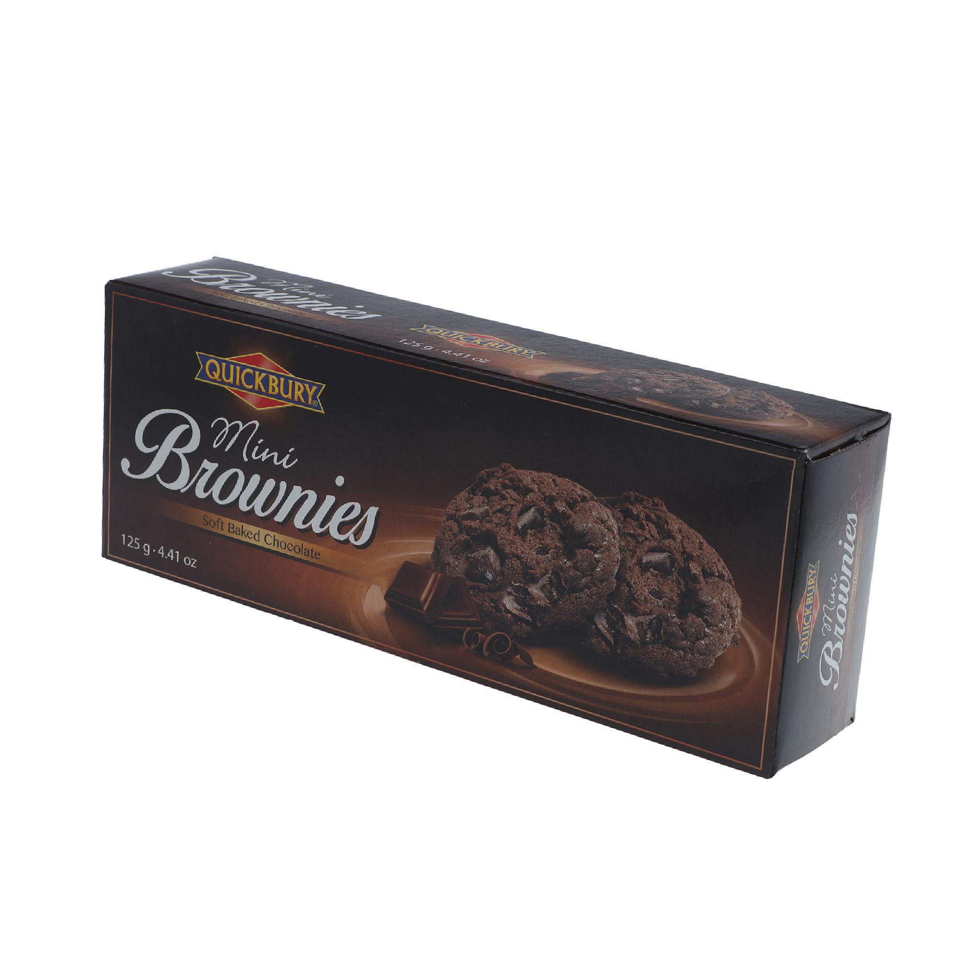 Печенье шоколадное Quickbury Mini Brownies 125 г недорого