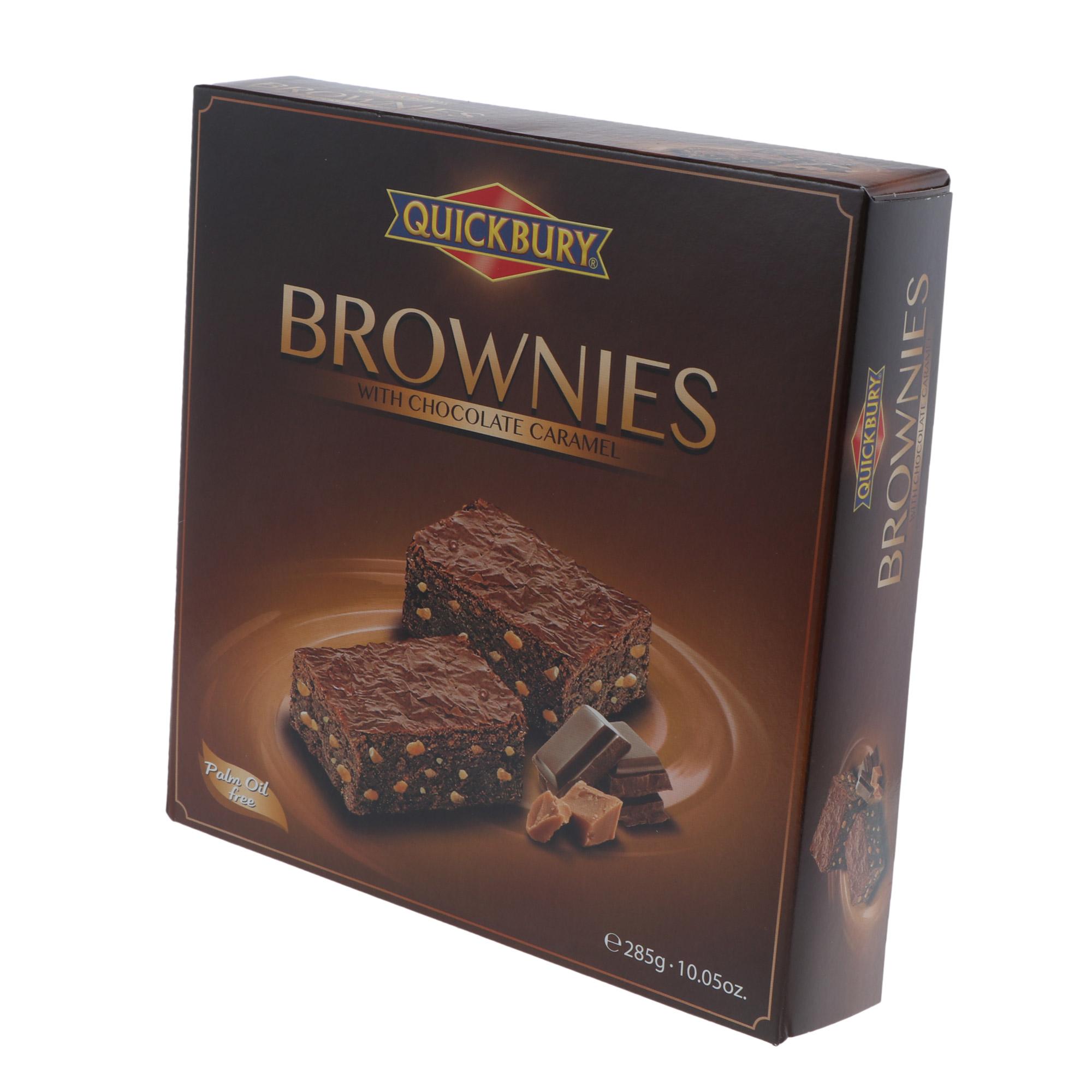 Пирожное Брауни Quickbury шоколад-карамель 285 г ферреро бзмж пирожное киндер макс кинг шоколад карамель 35г