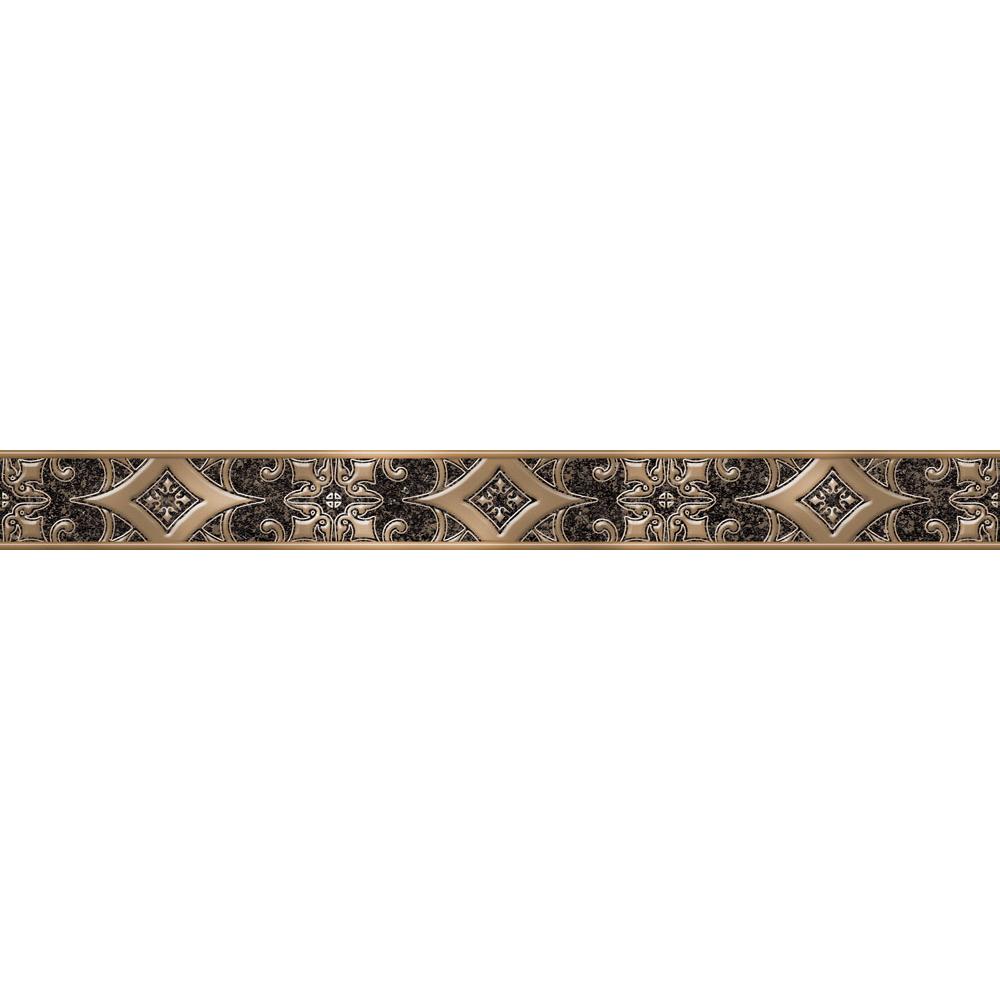 Бордюр Alma Ceramica Marbella BWU60MBL402 6x60 см мозаика alma ceramica marbella mwu30mbl404 30х30см