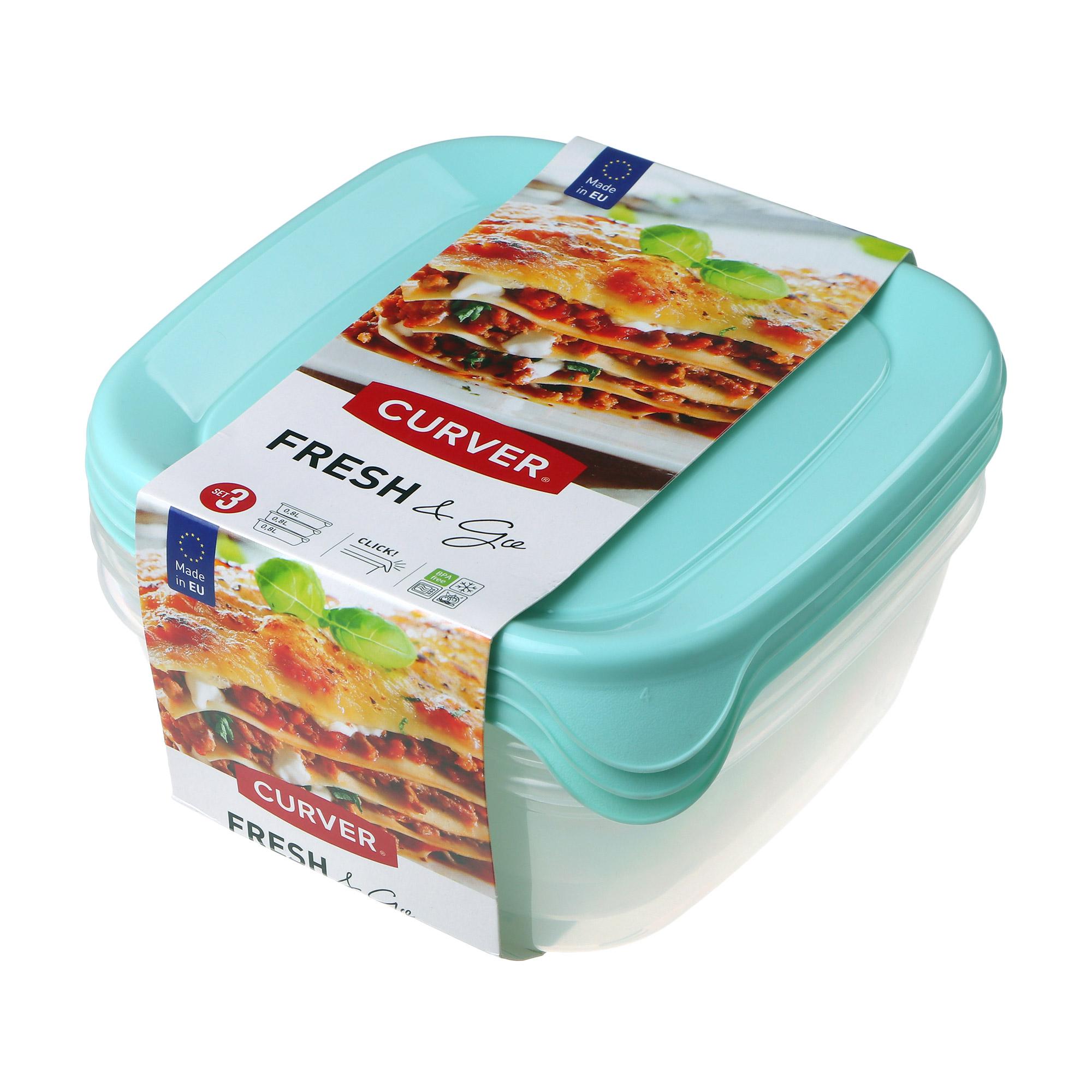 Купить Набор контейнеров для свч Curver fresh&go мята, полипропилен