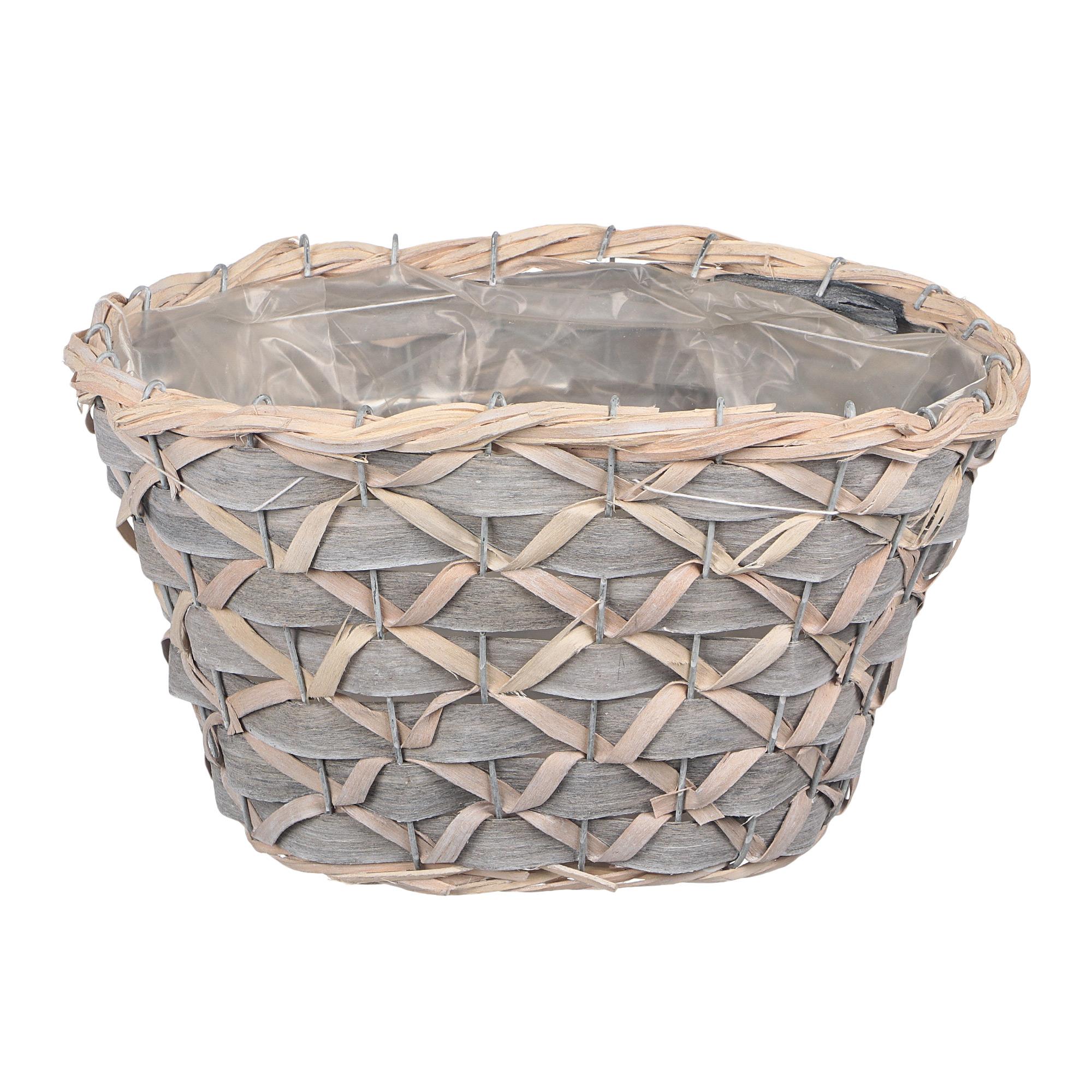 Кашпо Dekor pap плетеная корзина овальная 30x19x17см