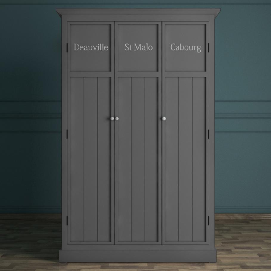 Серый трехстворчатый шкаф Этажерка Palermo PL1027-3G фото