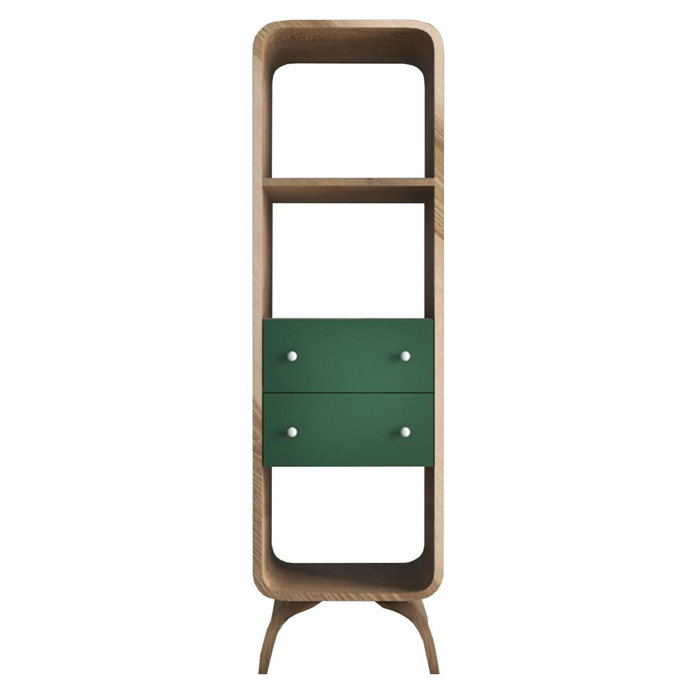 Стеллаж Этажерка Ellipse узкий с ящиками EL17G шкафы фея стеллаж с ящиками