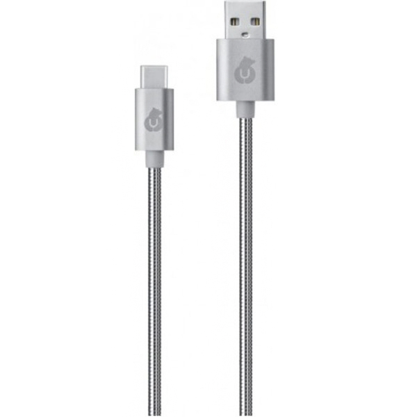 Кабель uBear Force USB-C USB-A DC08SL01-AC 1,2 м серебристый
