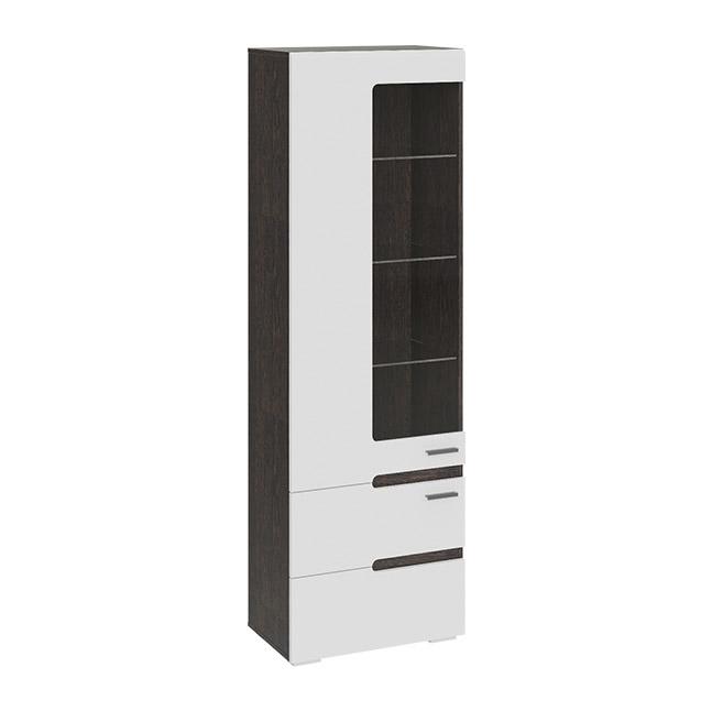 Шкаф для посуды Смарт мебель «Фьюжн» (Белый глянец, Венге Линум) 260.07.25