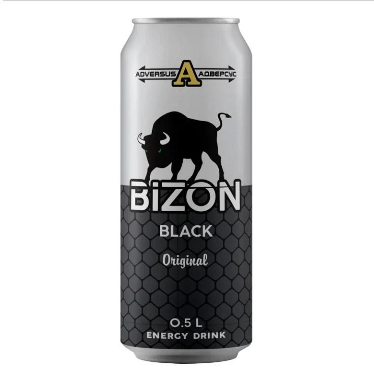 Напиток энергетический Bizon Black 500 мл напиток энергетический monster green 500 мл