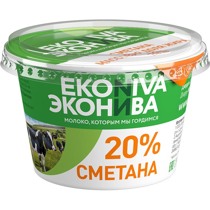 Сметана Эконива 20% 200 г