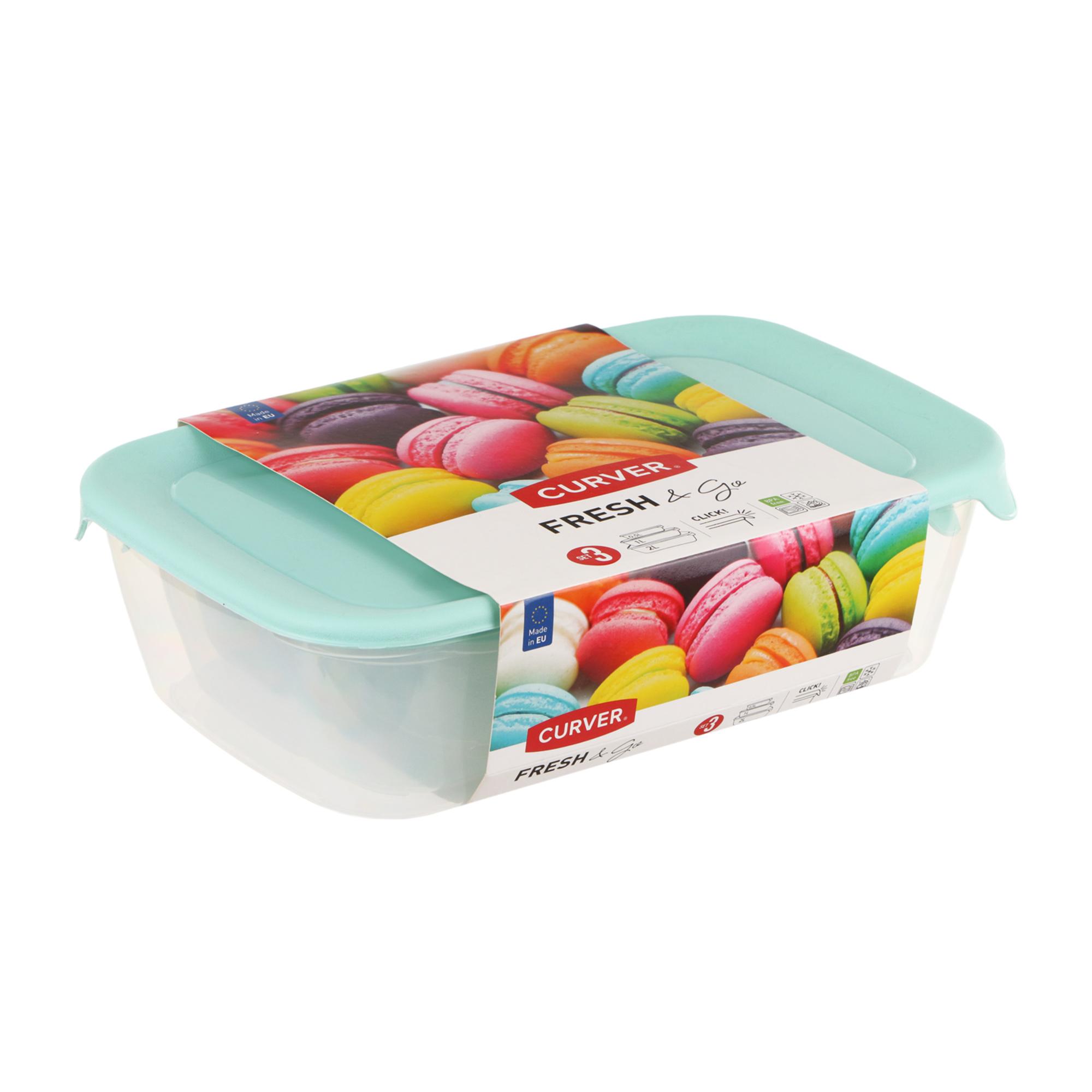 Фото - Набор контейнеров Curver Fresh&Go 3 шт 0,5/1/2 л аквабрайт вп 20 м л 1 шт