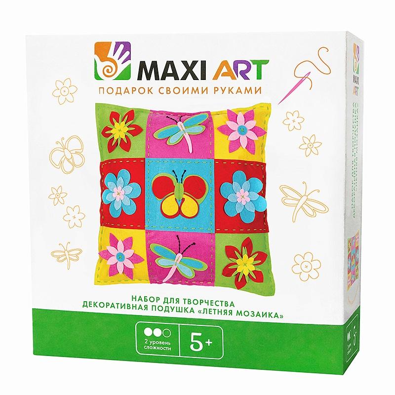 Набор для творчества Maxi Art Подушка Летняя мозаика