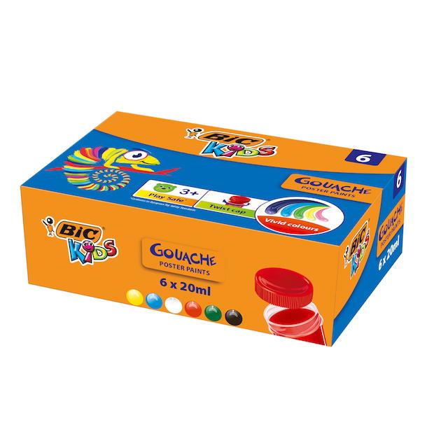 Гуашь BIC Kids 6 цветов недорого