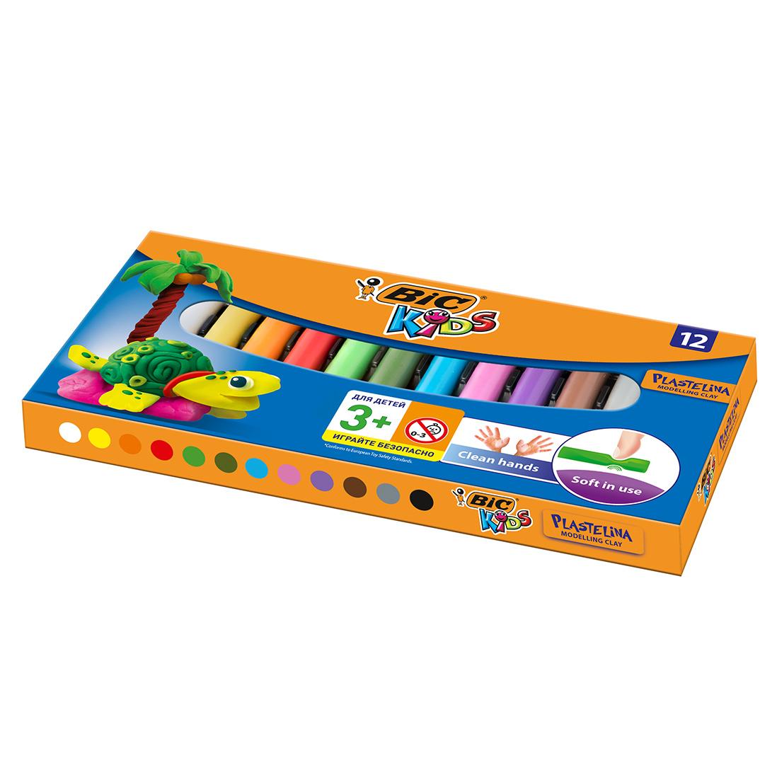 Пластилин BIC Kids 12 цветов недорого
