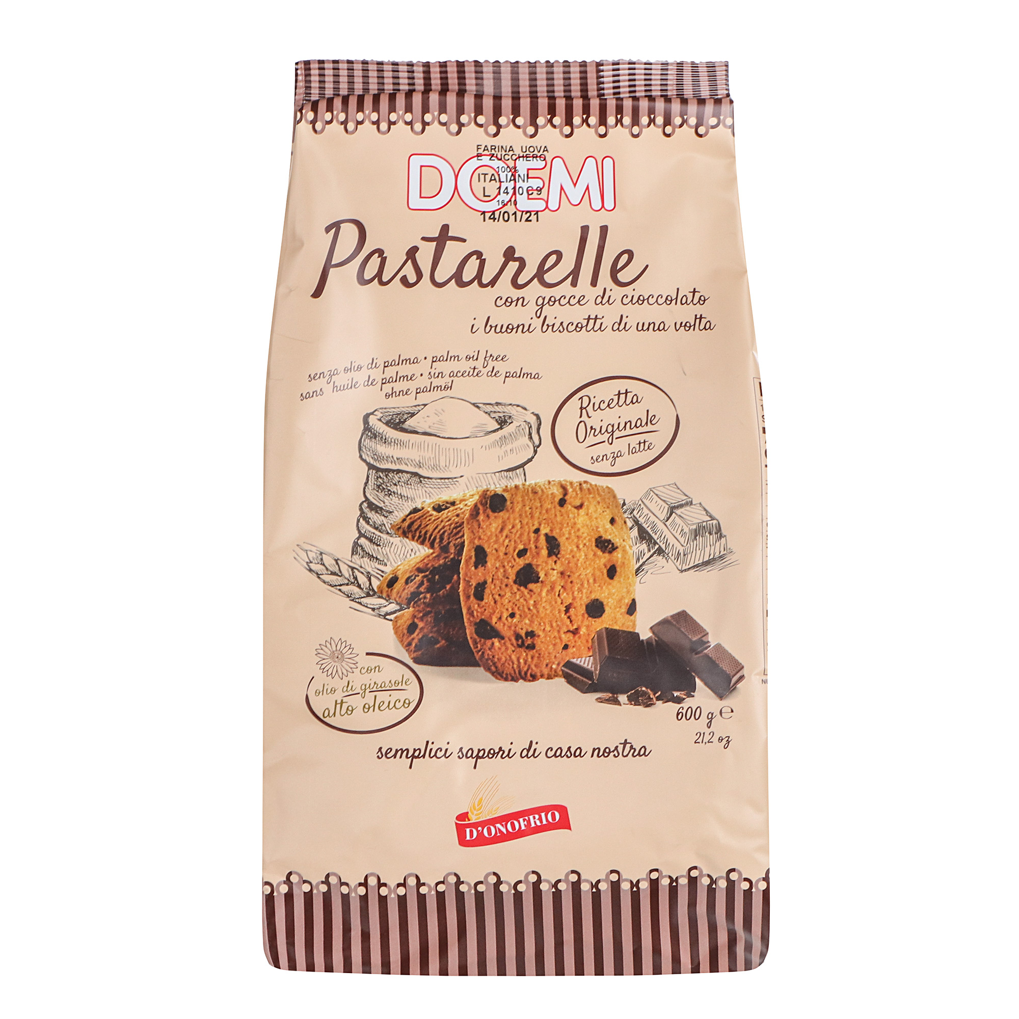 Фото - Печенье DOEMI Pastarelle с шоколадной крошкой 600 г печенье quickbury с шоколадной крошкой 150 г