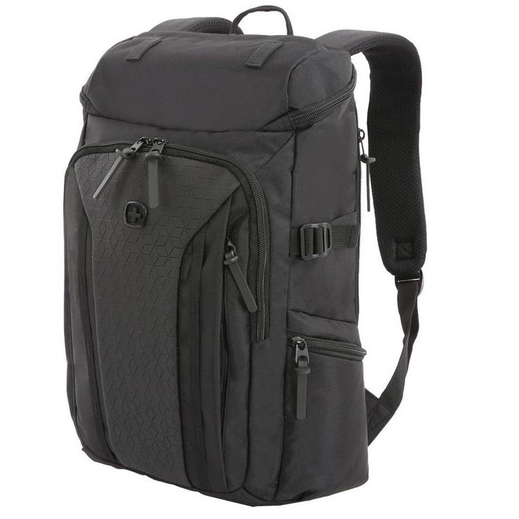 Рюкзак WENGER 15, чёрный, полиэстер 900D/ М2 добби, 29х15х47 см, 20 л фото