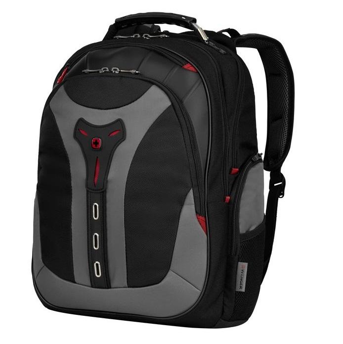 Рюкзак WENGER 17, черный/серый, полиэстер, 37x24x48 см, 25 л рюкзак городской wenger 26 л серый серебристый 34х16х48см