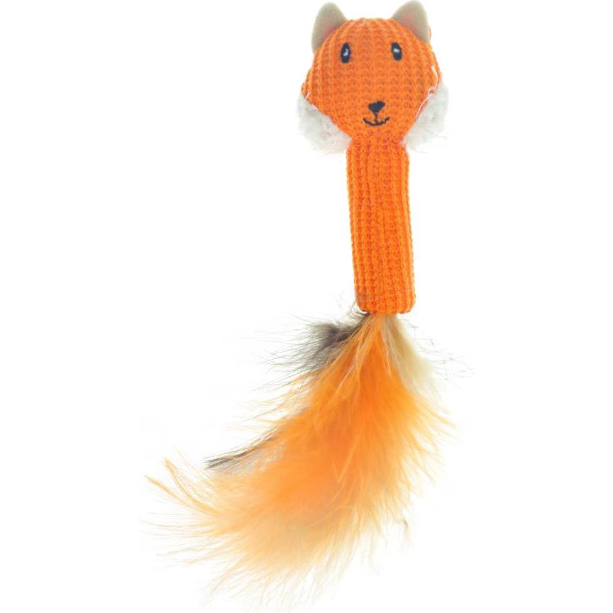 Игрушка для кошек CHOMPER Into the Woods Дразнилка Лиса с хвостом из пера.