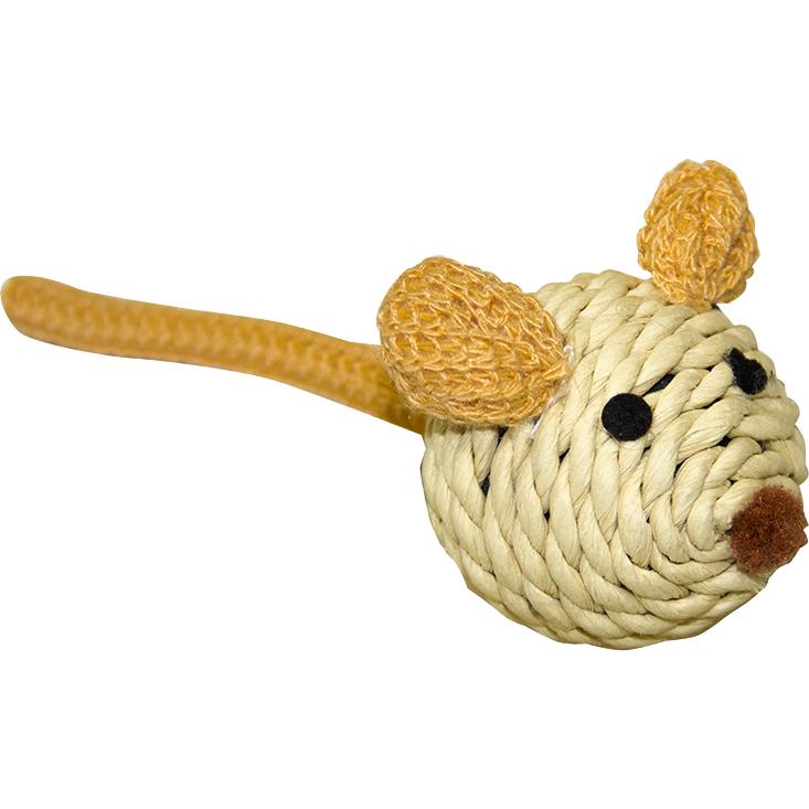 Игрушка для кошек CHOMPER Natural Мышка сизаль.