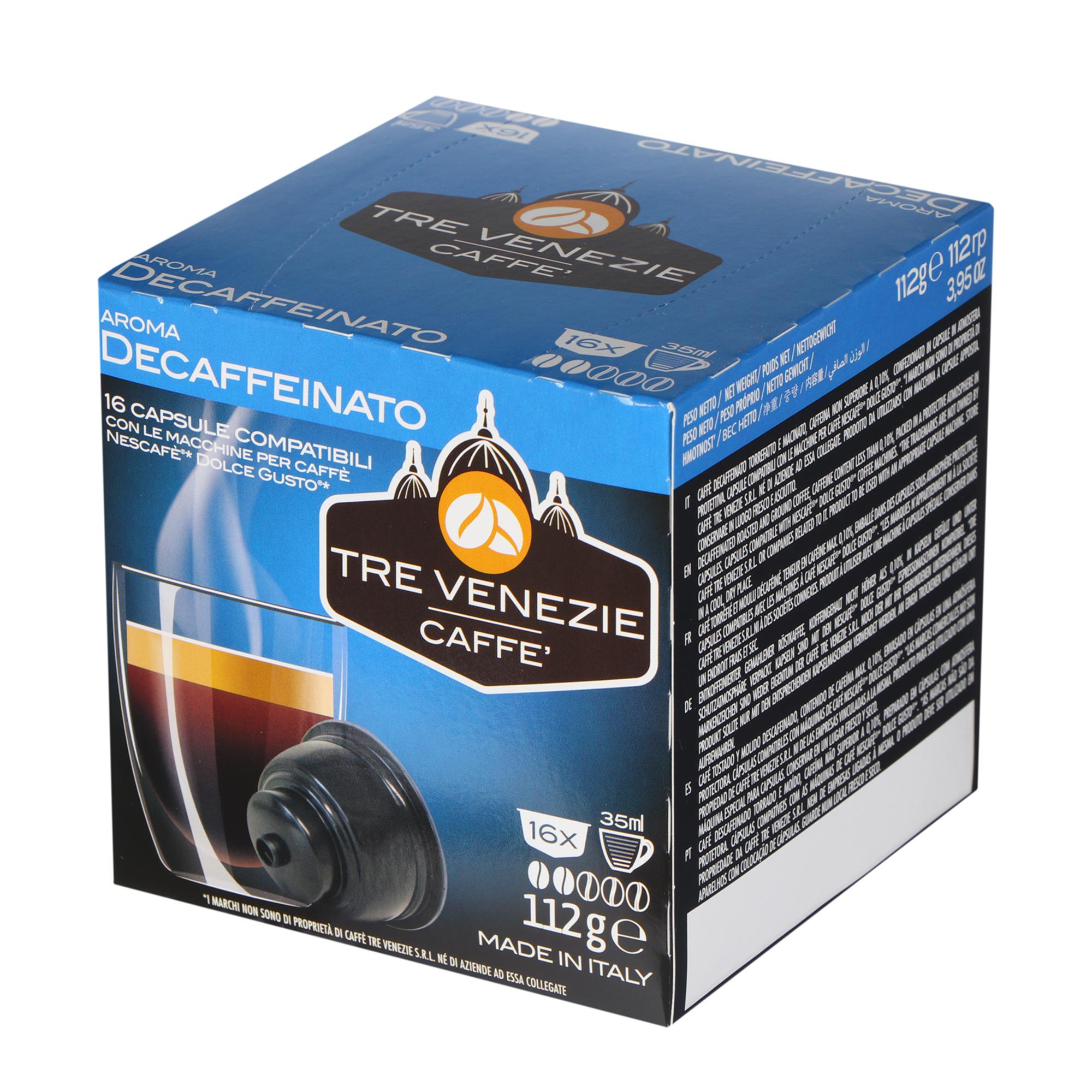 Кофе Tre Venezie Caffe Decaffeinato 16 шт