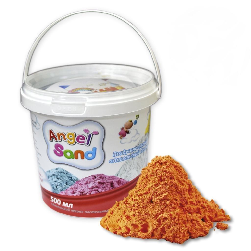 Игровой песок Angel Sand оранжевый 500 мл