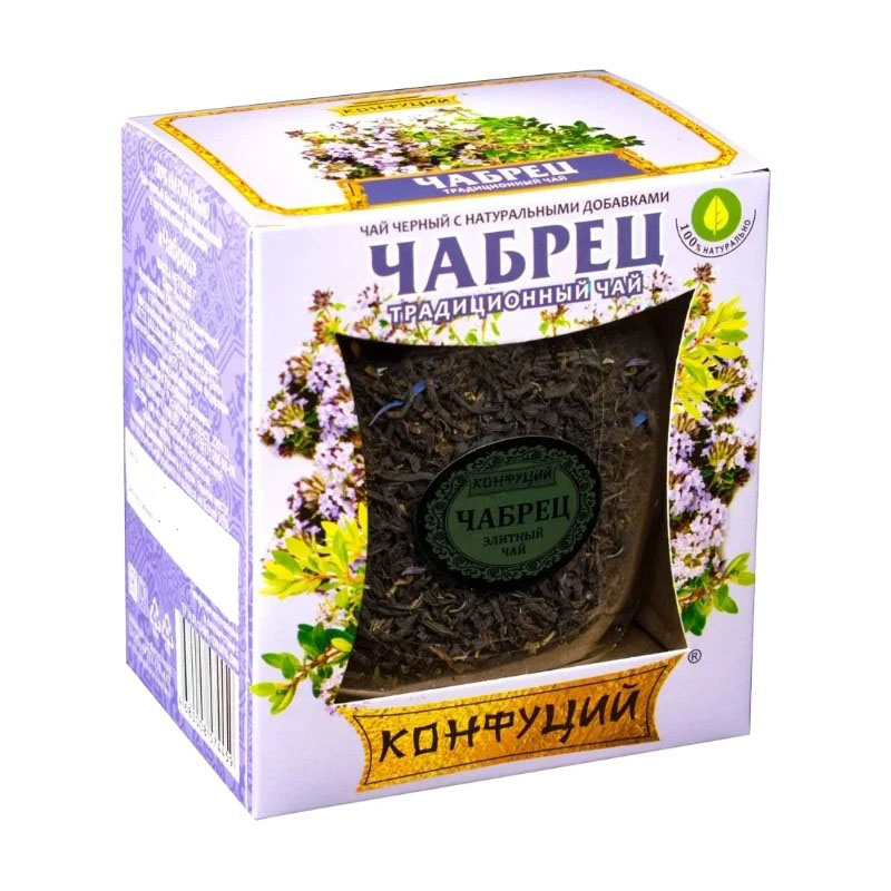 Чай черный Конфуций чабрец 55 г недорого