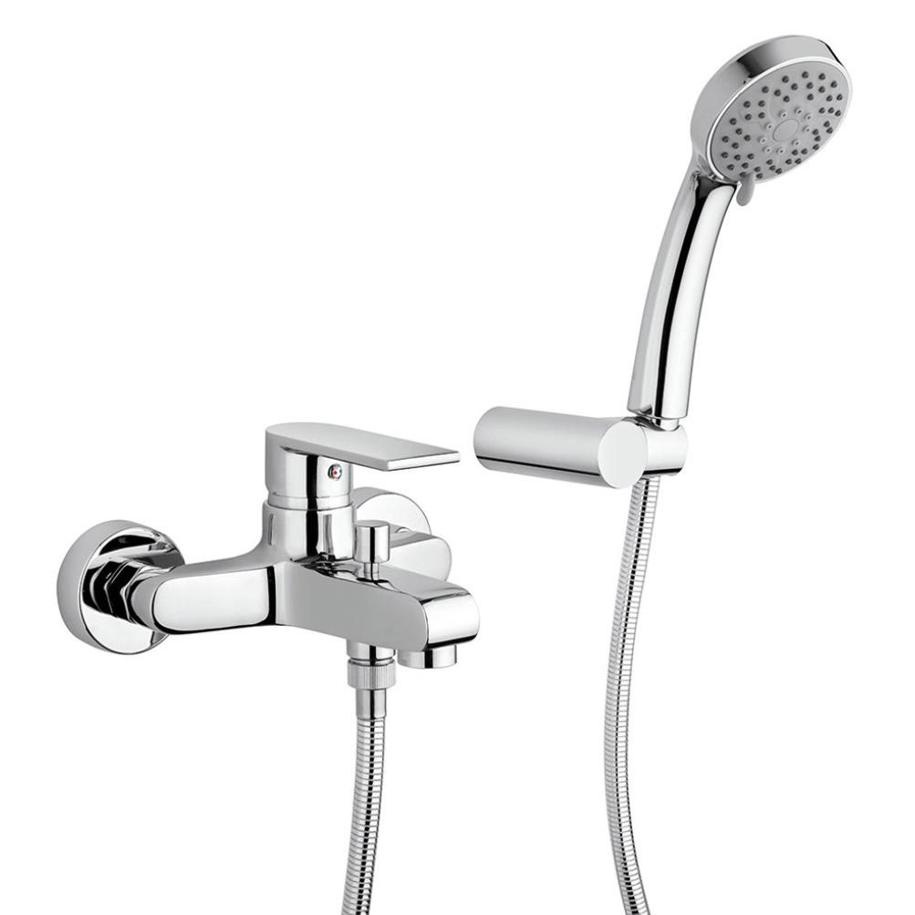 Смеситель для ванны Paini Ghibli 44CR105E с аксессуаром термостат для ванны paini lady 89op105thkm