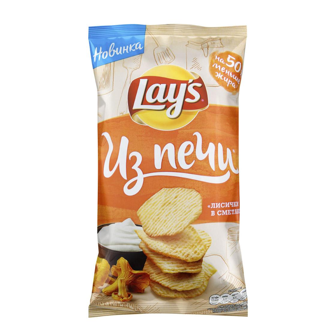 Чипсы картофельные Lays Из Печи Лисички в сметане 120 г недорого