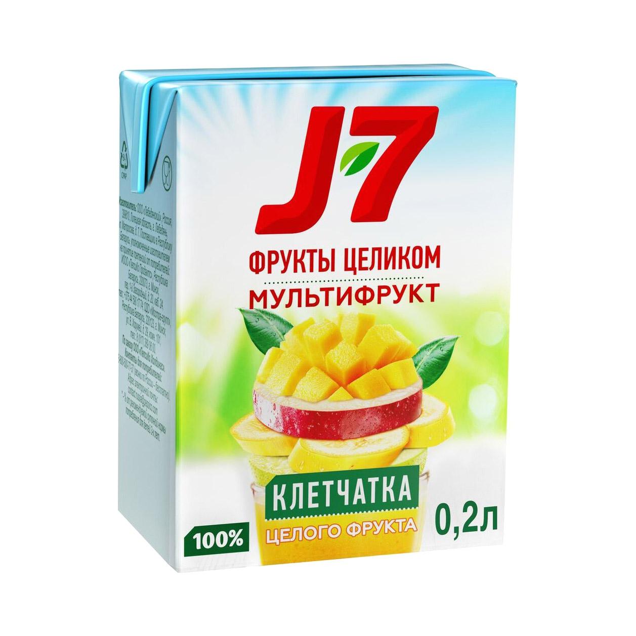 Нектар J-7 Мультифрукт с мякотью 200 мл