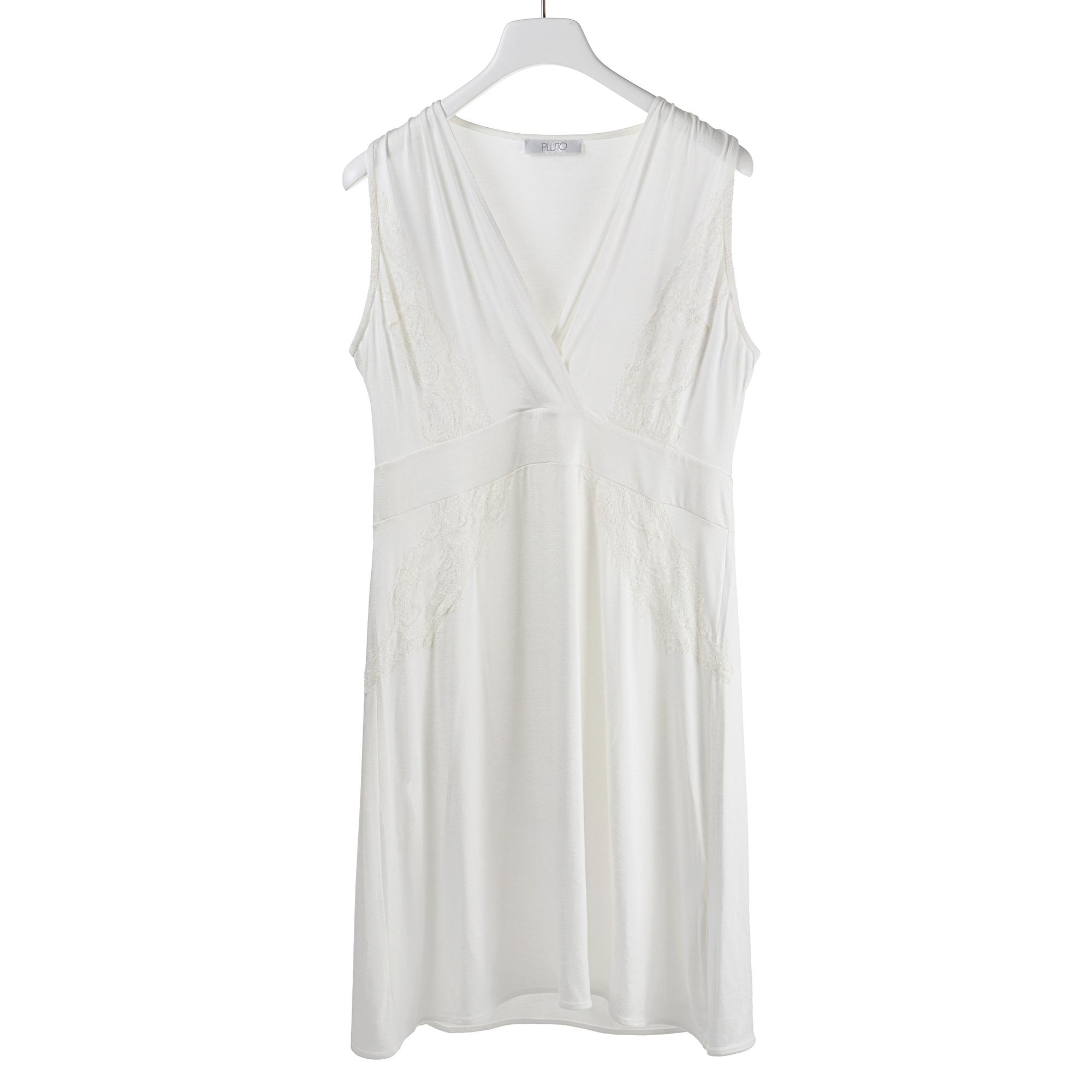 Платье женское для дома Pluto трикотажное, отделка кружевом, размер: L