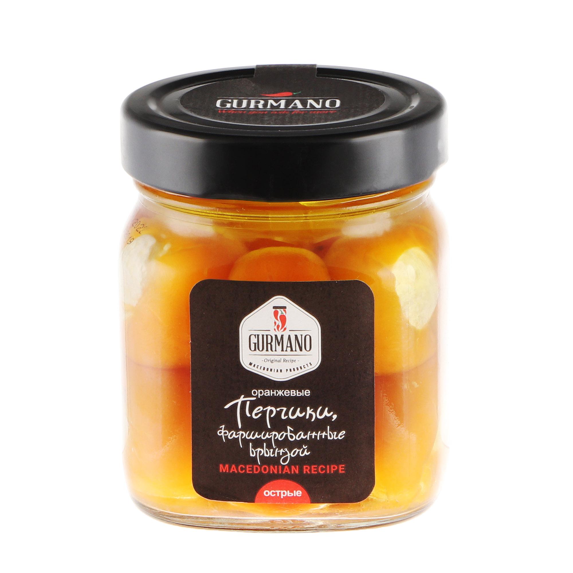 Перчик оранжевый острый Gurmano с брынзой 290 г