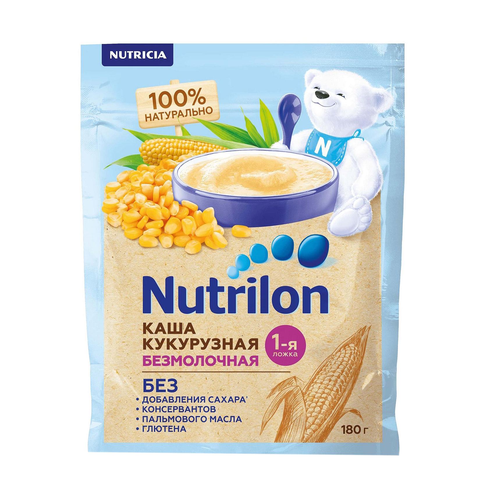Каша Nutrilon кукурузная с 5-ти месяцев 180 г hipp каша зерновая кукурузная с 5 месяцев 200 г