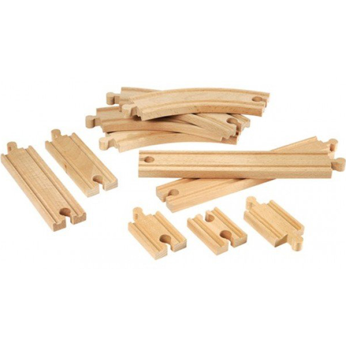 Купить Игровой набор BRIO Железнодорожное полотно базовые элементы 33401, бежевый, дерево, для мальчиков, Наборы игровые