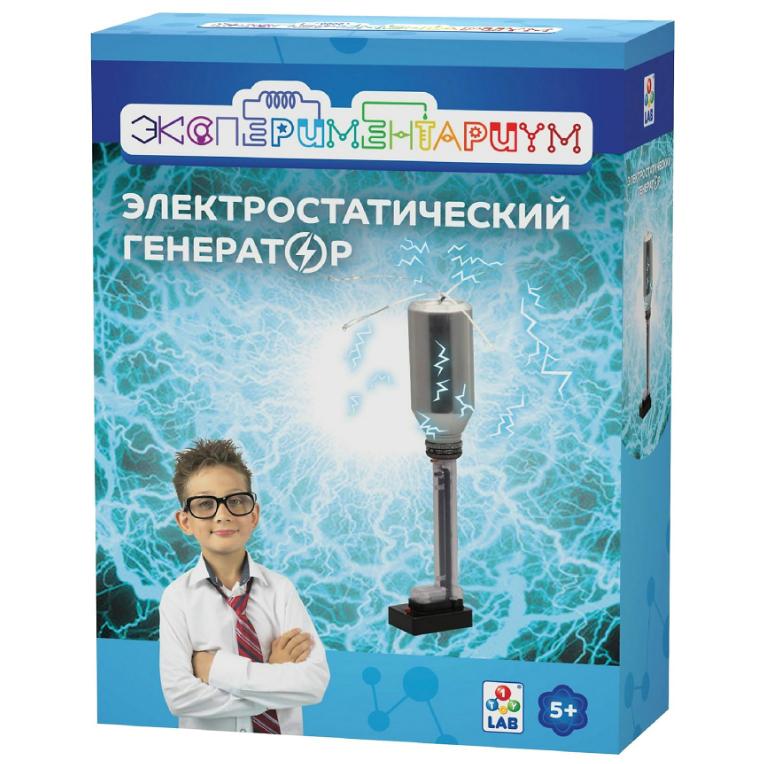 Набор для опытов Экспериментариум Электростатический генератор наборы для опытов и экспериментов экспериментариум набор конструируем пылесос