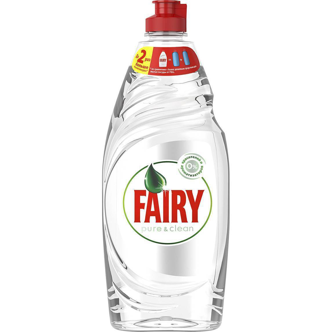 Купить Набор средство для мытья посуды Fairy Pure&Clean 650 мл + средство для мытья полов и стен Mr.Proper Бережная уборка 500 мл, моющее средство