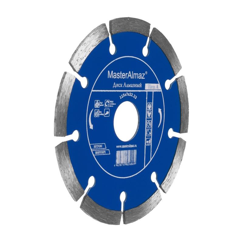 Фото - Диск алмазный МастерАлмаз PRO (Тип А) 180х7х22 23 по бетону сегментный диск алмазный мастералмаз standard тип в 180х5х22 23 по камню сплошной