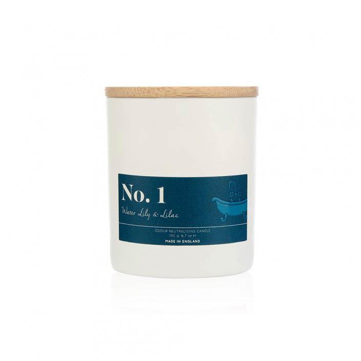 Аромасвеча Wax Lyrical Водяная лилия и Сирень 9,5 см