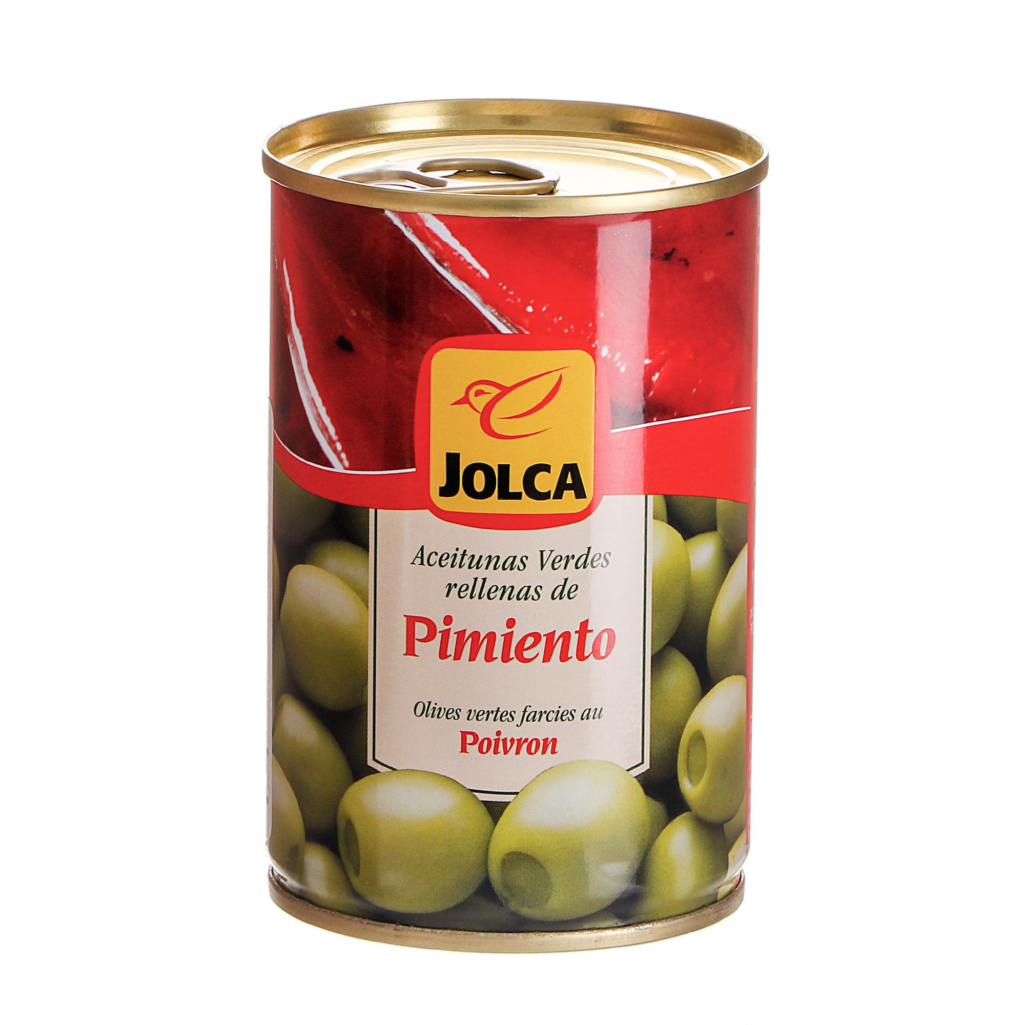 Оливки зеленые Jolca фаршированные перцем 300 г