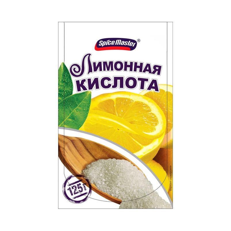 Лимонная кислота Spice Master 125 г смесь перцев spice master 85 г