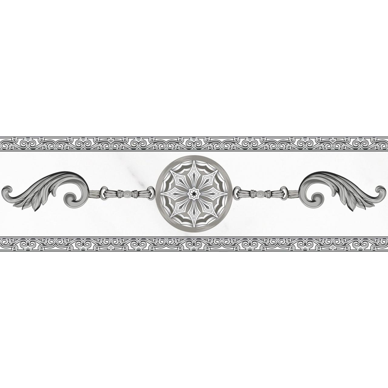 Фото - Бордюр PiezaRosa Crystal 6,5x45 см декор piezarosa цезарь 1 серый 25х40 см 342571