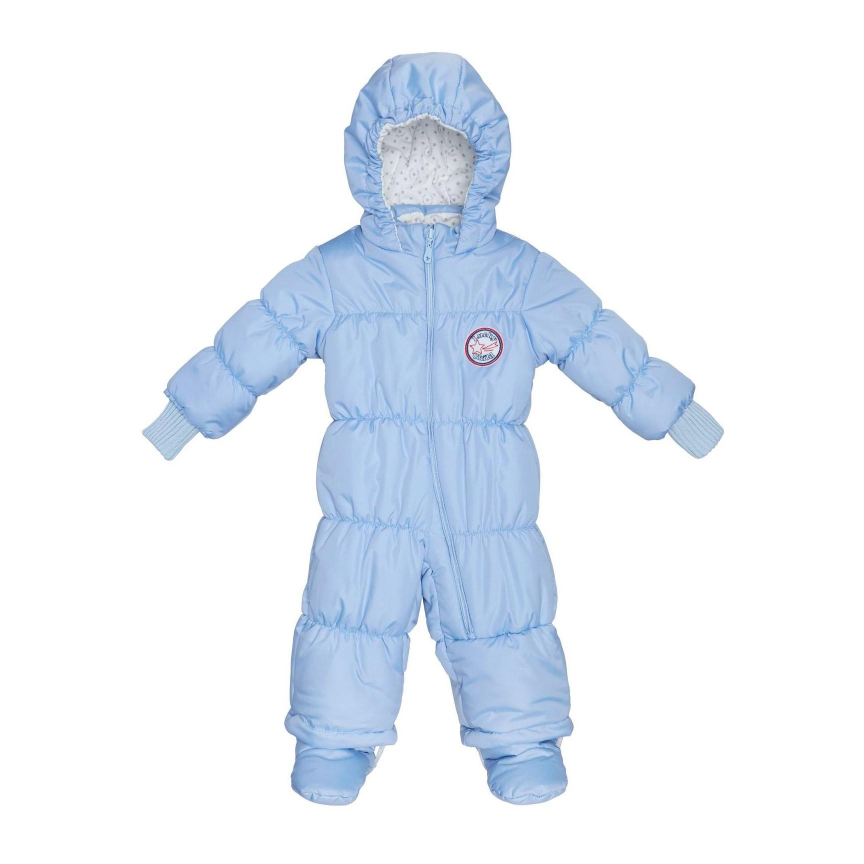 Зимний комбинезон Lucky Child голубой 62-68 зимний комбинезон lucky child молочный 62 68
