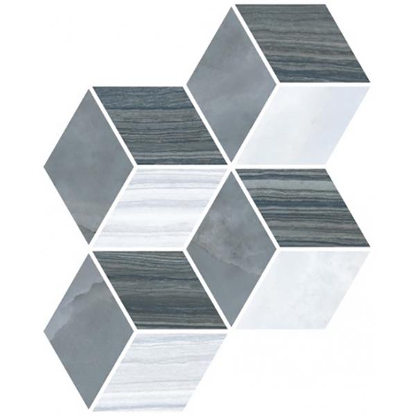 Мозаика Vitra Serpe-Nuvola Ромб Холодная Гамма 24×30 см фото