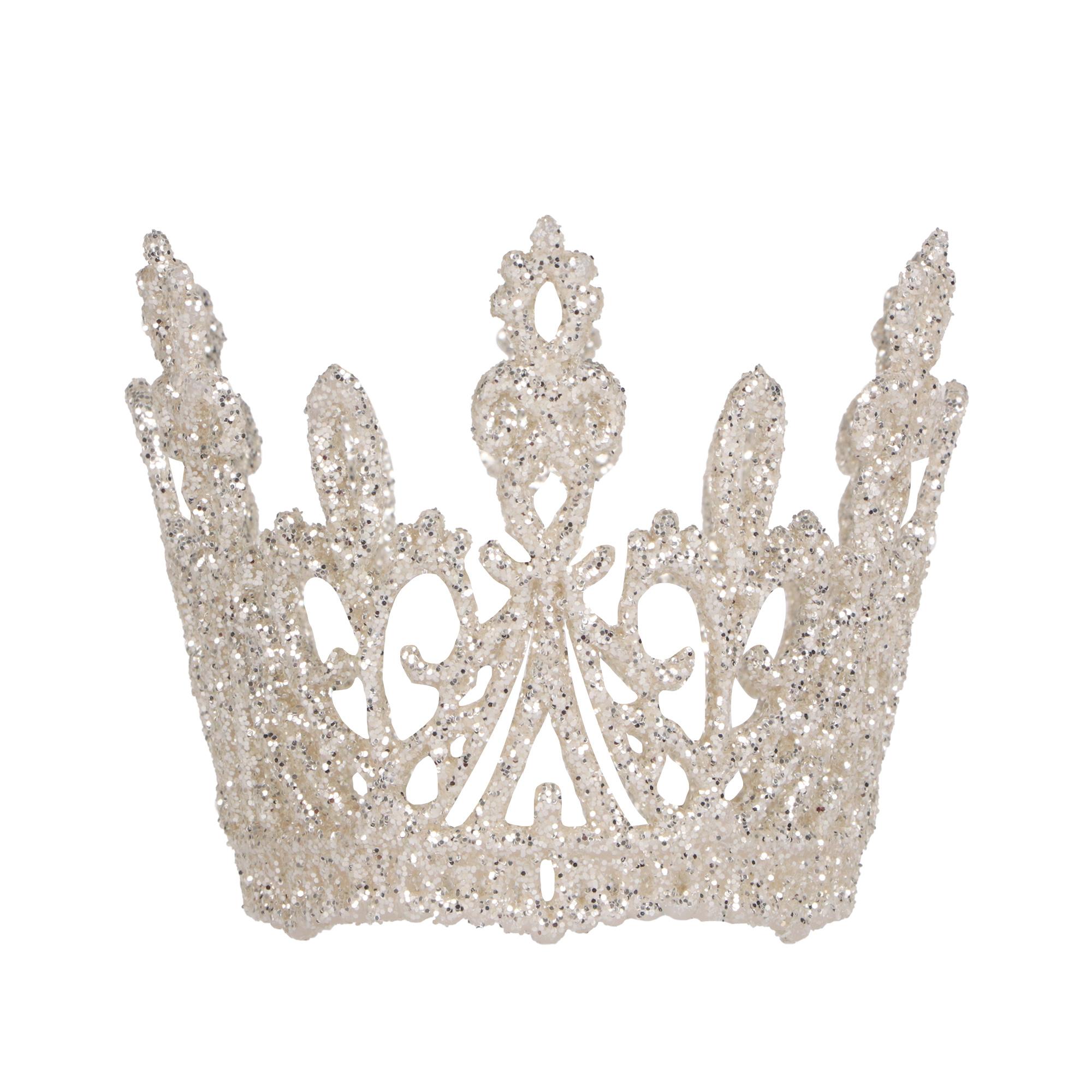 Подвеска Weiste корона жемчужный/серебро 75мм