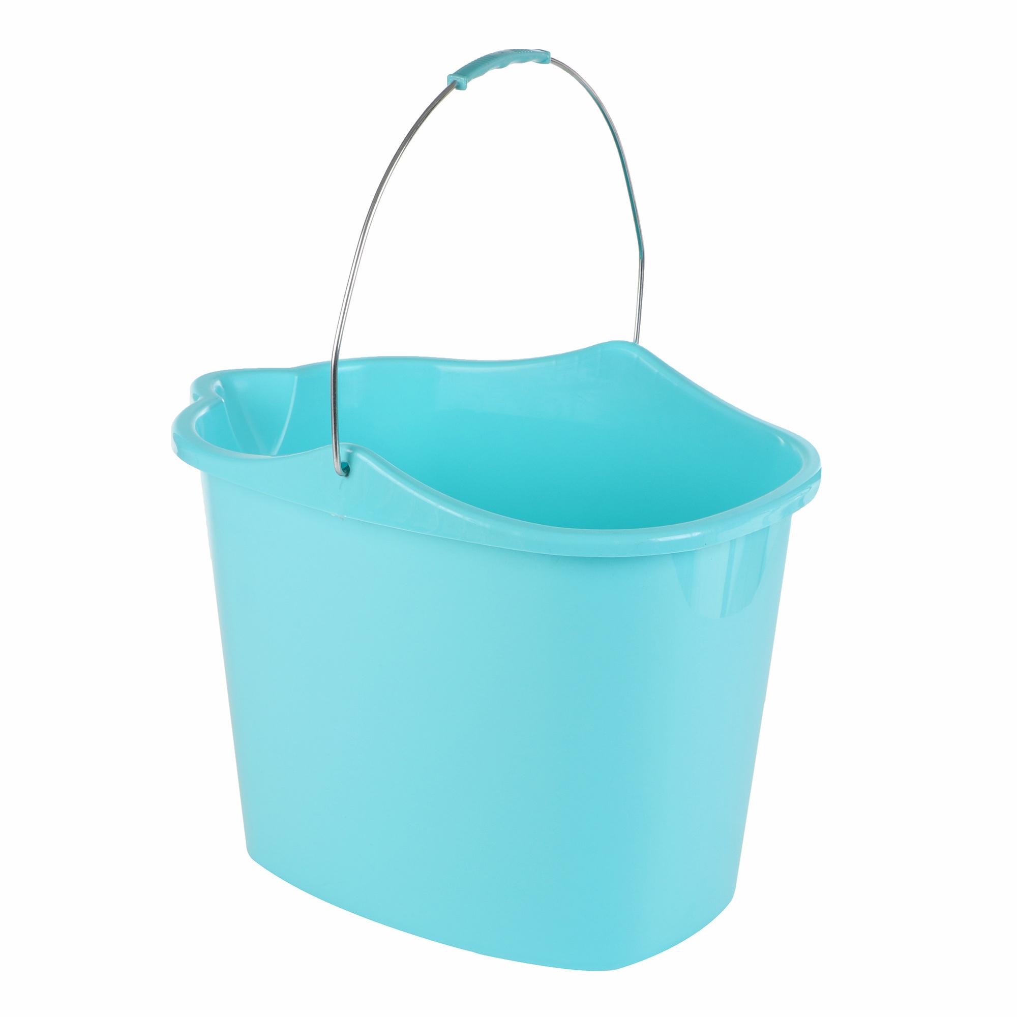 Купить Универсальное пластиковое ведро Grifon 15 л, бирюзовый