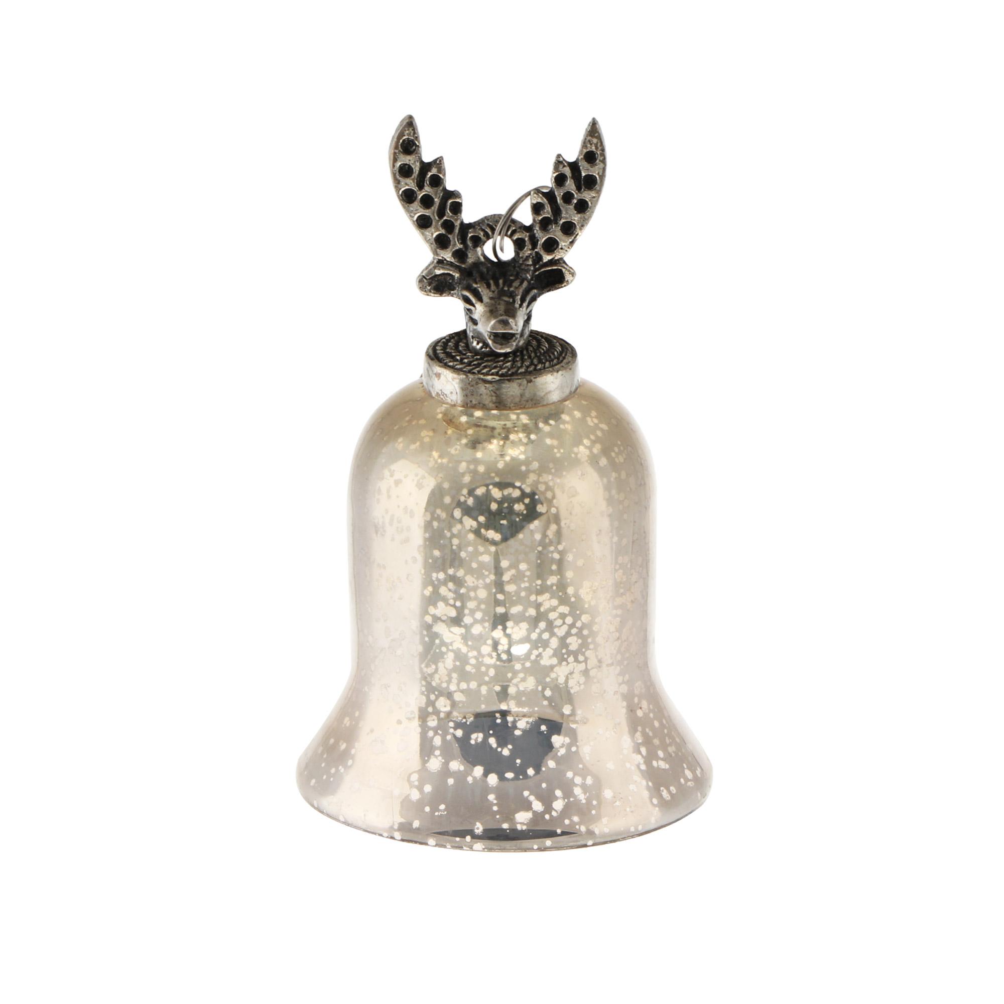 Колокол с оленем декоративный Kaemingk 9х9х14.5см фото
