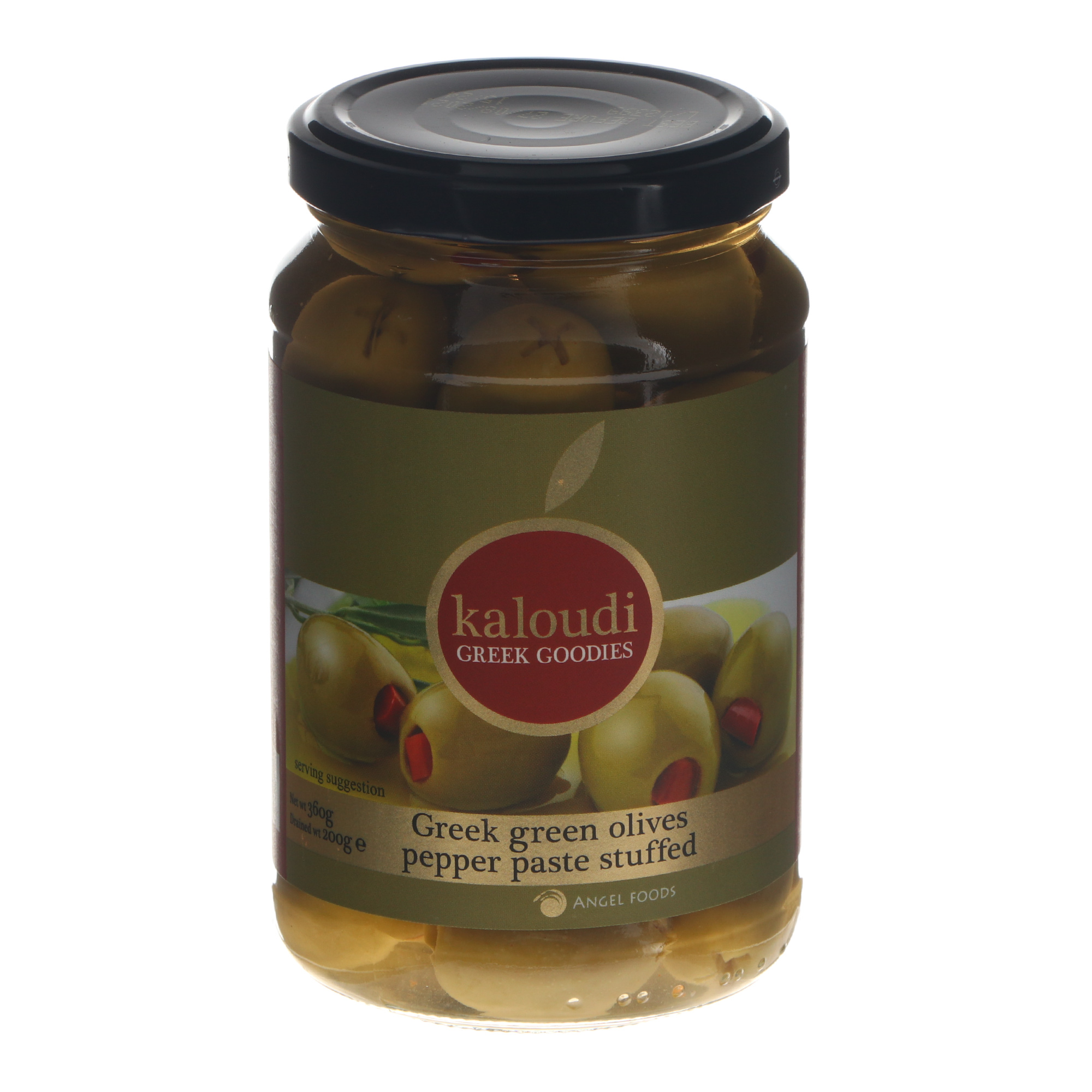 Оливки зеленые Kaloudi с перцем 200 г