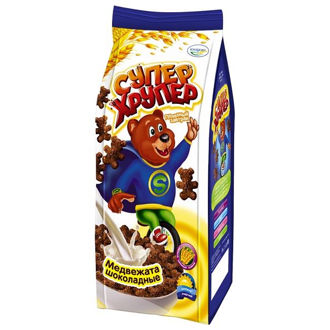 Медвежата шоколадные Кунцево супер хрупер, 200 г