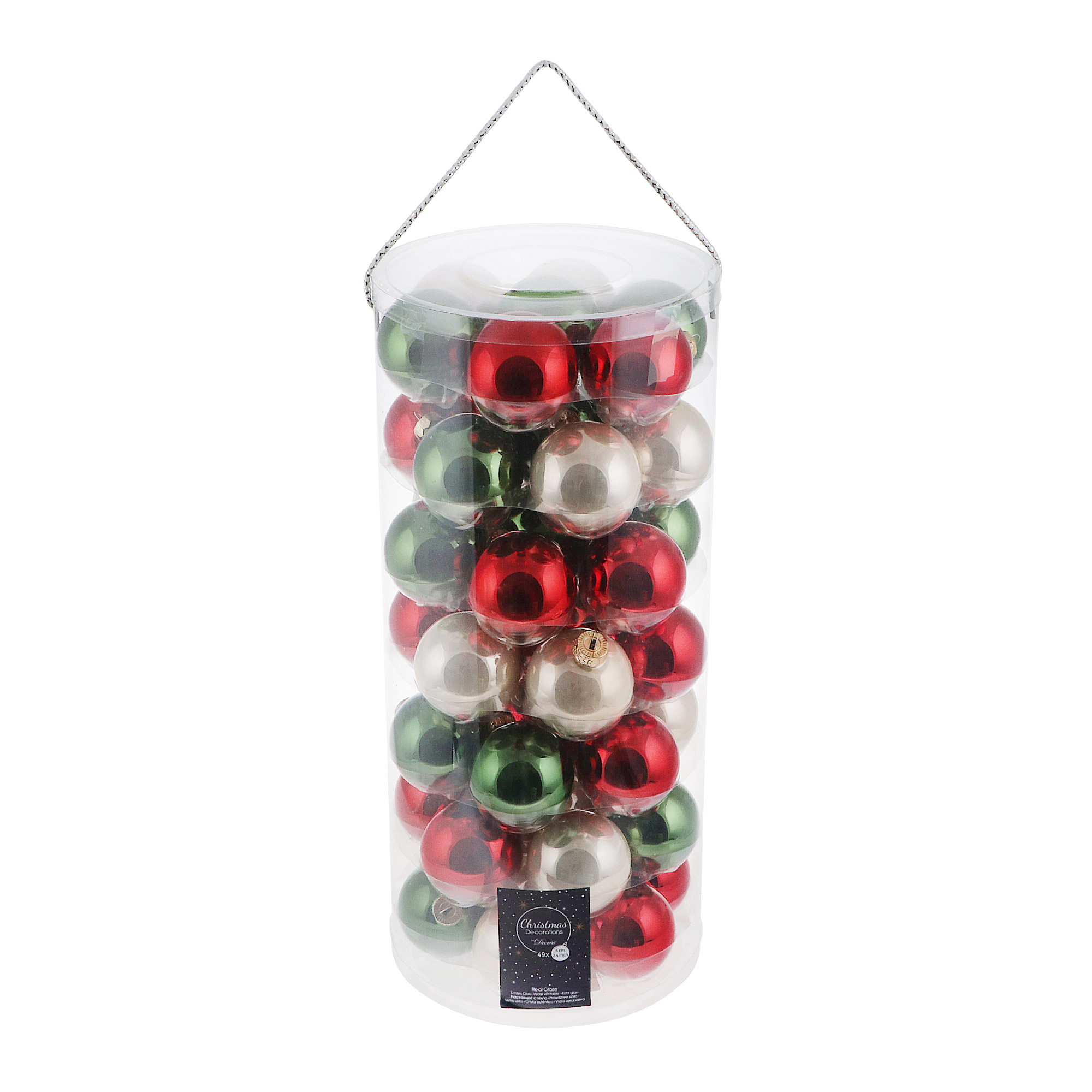 Набор шаров в тубе Kaemingk 6см 49шт в ассортименте набор шаров в тубе kaemingk 6см 10шт бордо стекло