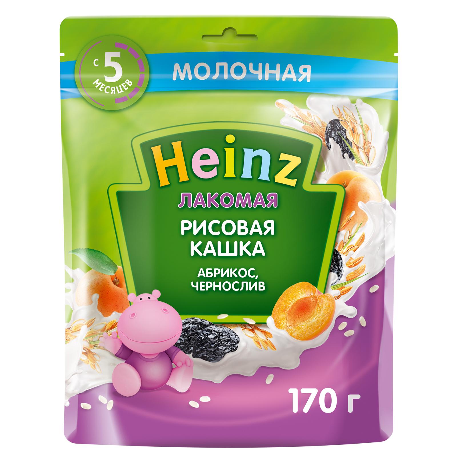 Каша Heinz Лакомая рисовая Абрикос чернослив с 5 месяцев 170 г.