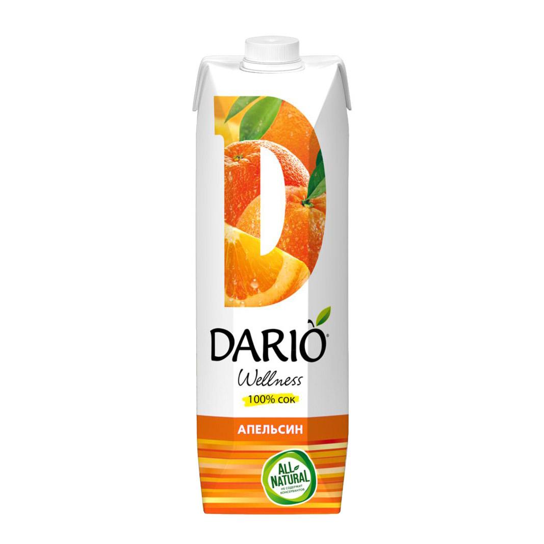 Сок Dario Wellness Апельсиновый 1 л