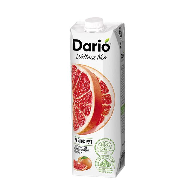 Нектар Dario Wellness Грейпфрутовый с экстрактом косточки 1 л