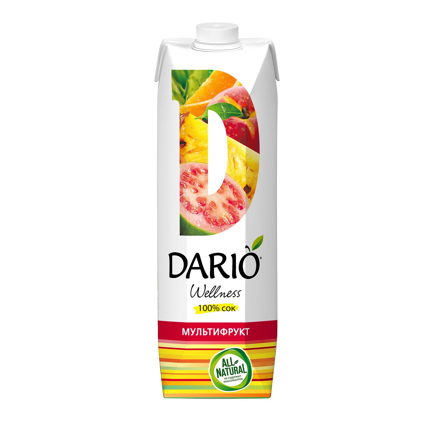 Нектар Dario Wellness Мультифруктовый 1 л недорого